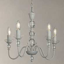 Adjustable chandelier ceiling lighting john lewis buy john lewis eloise glass ceiling light 5 arm grey online at johnlewis mozeypictures Gallery