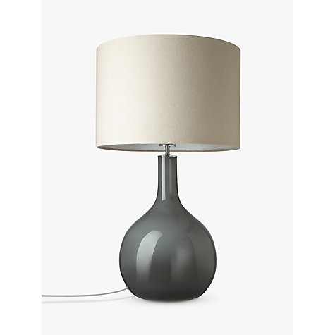 Buy John Lewis Faye Shaped Glass Table Lamp, Grey Online at johnlewis.com