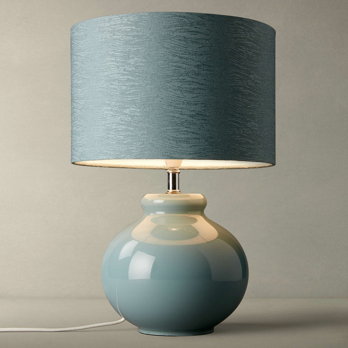 Buyjohn Lewis Ettie Blue Glass Table Lamp, Blue Shade Online