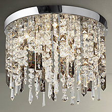 Buy John Lewis Ginevra LED Semi Flush Ceiling Light, Silver/Clear Online at johnlewis.com