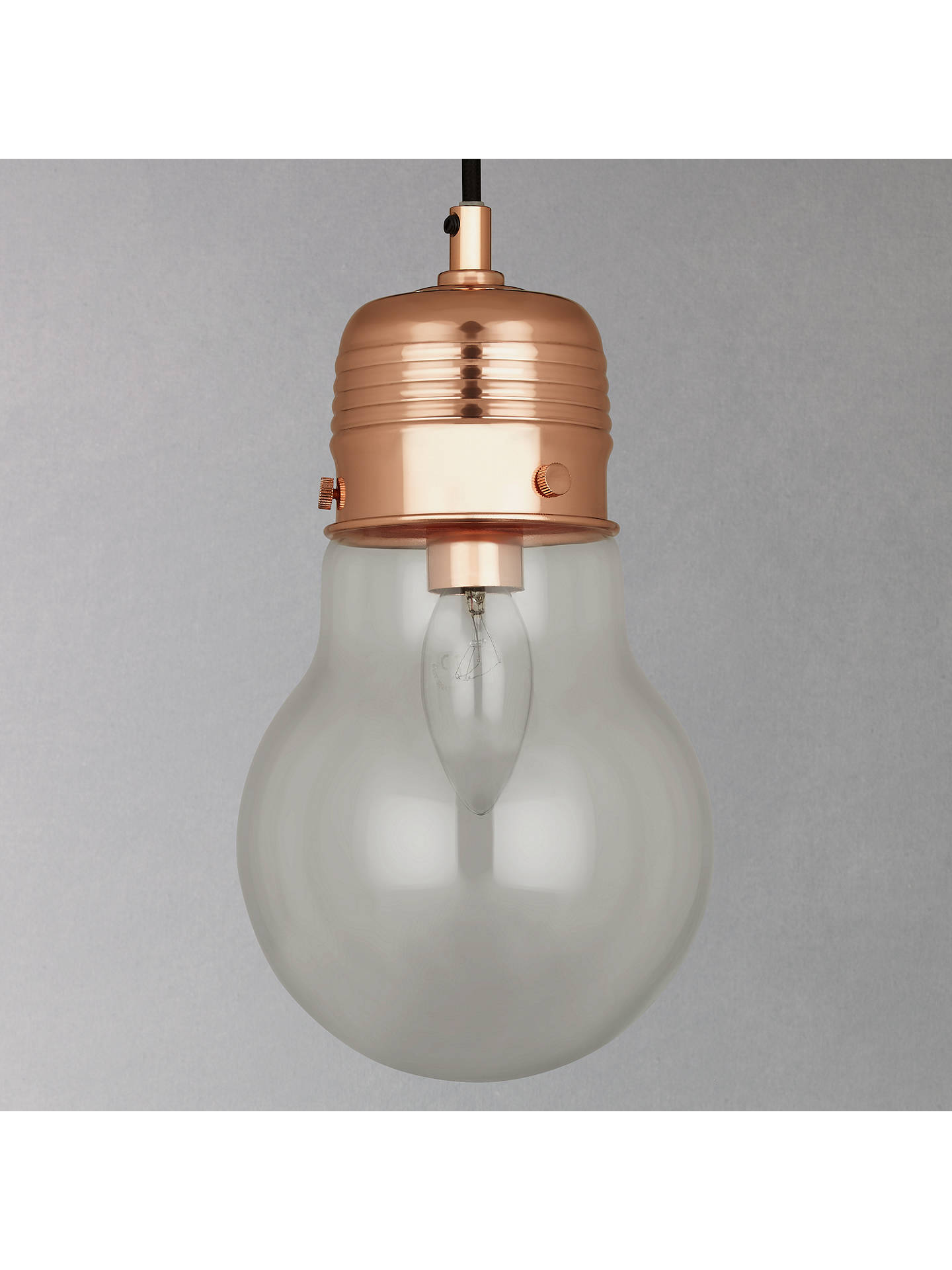 Buy House by John Lewis Watt Pendant Light, Copper Online at johnlewis.com