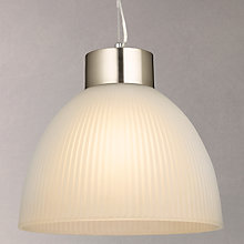 Buy John Lewis Lester Ribbed Ceiling Light, Frosted Glass Online at johnlewis.com