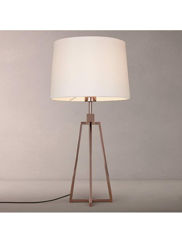 John Lewis Partners Lockhart Tripod, Copper Table Lamp Wilko
