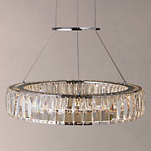 Buy John Lewis Melody Crystal LED Round Diner Ceiling Light, Crystal Clear Online at johnlewis.com
