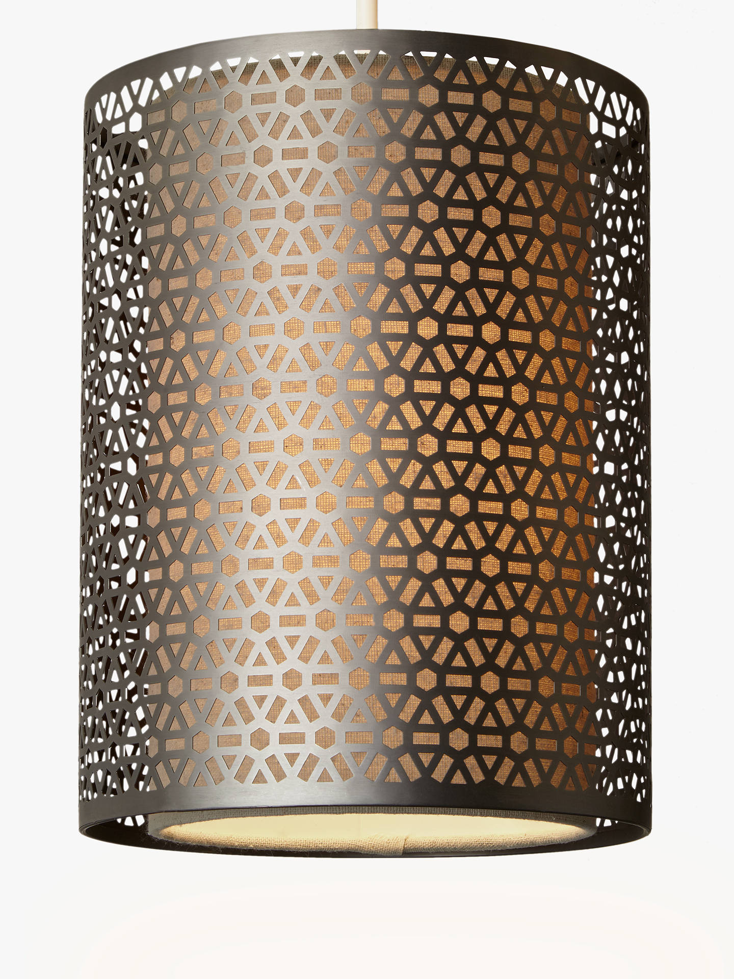 BuyJohn Lewis & Partners Meena Easy-to-Fit Ceiling Shade, Brushed Steel Online at johnlewis.com
