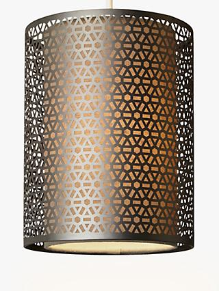 John Lewis & Partners Meena Easy-to-Fit Ceiling Shade, Brushed Steel