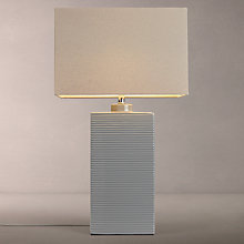 Buy John Lewis Louise Ribbed Ceramic Table Lamp, Grey Online at johnlewis.com