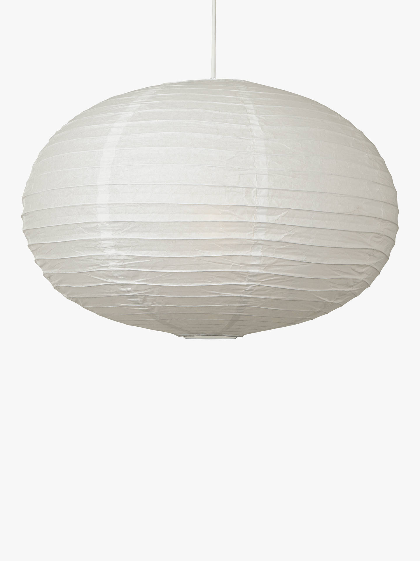 House By John Lewis Easy To Fit Paper Ceiling Shade White