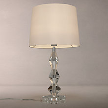 Buy John Lewis Clarissa Hex Crystal Stack Table Lamp, White Online at johnlewis.com