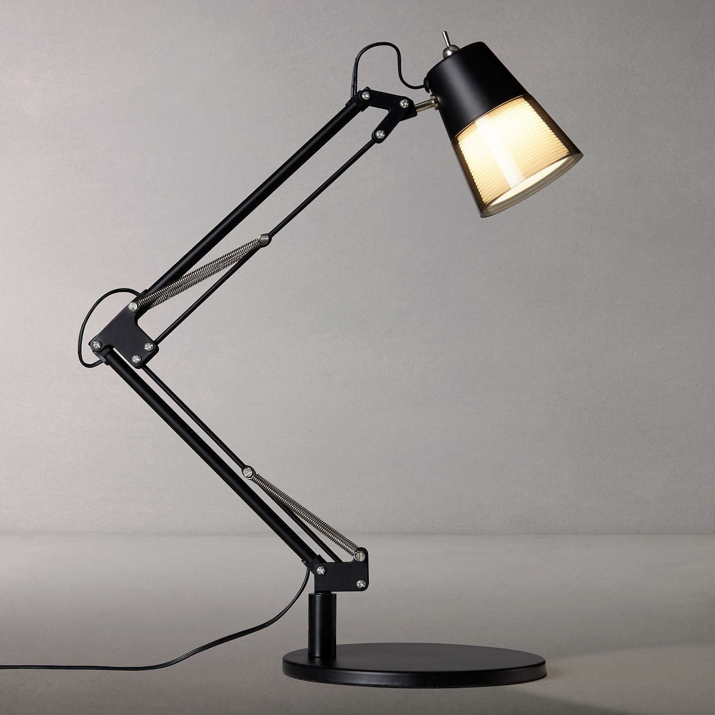 John Lewis Cormack Led Architect Desk Lamp, Black by John Lewis