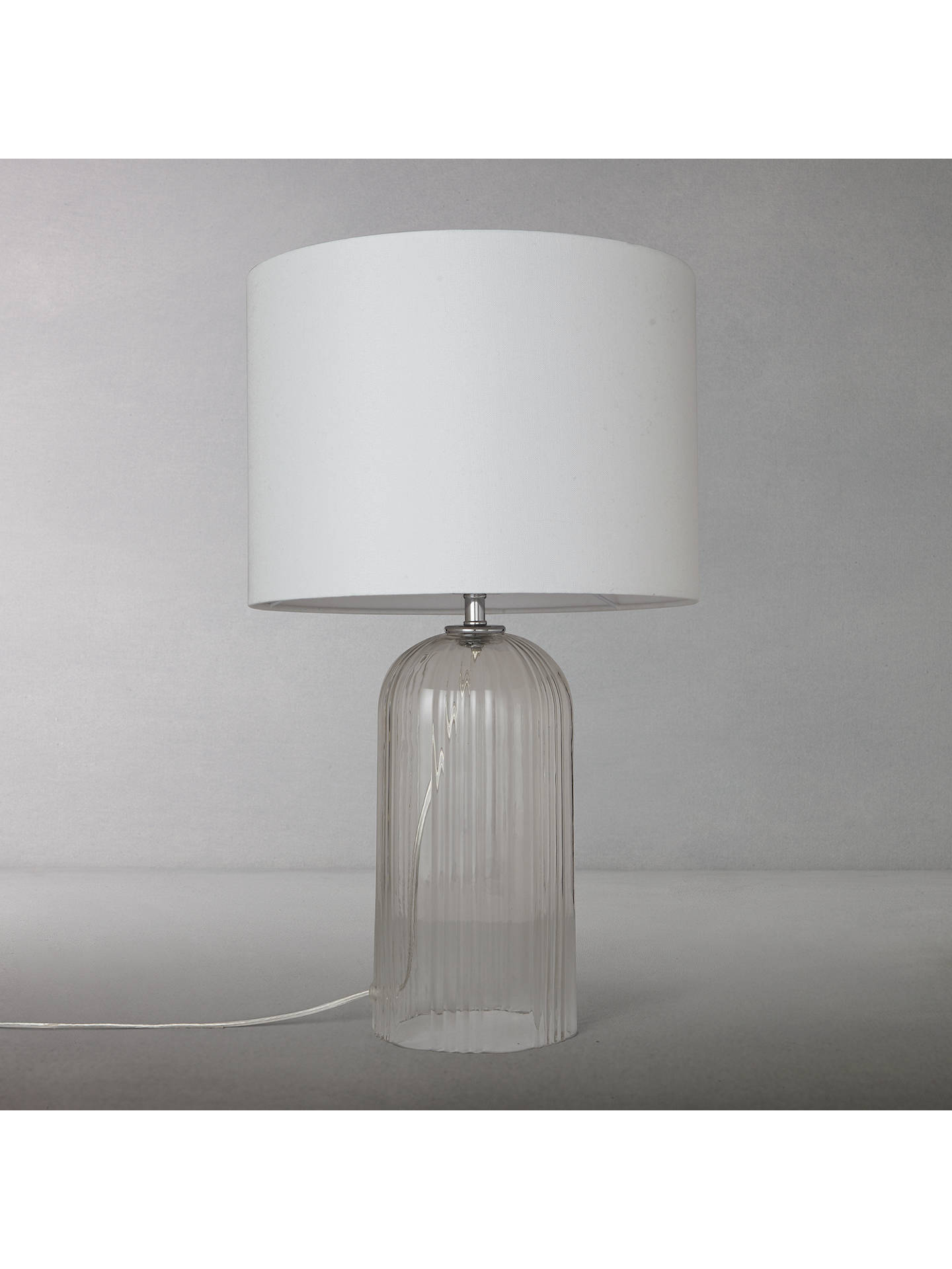 Charles Ribbed Glass Table Lamp