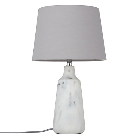 Buy John Lewis Croft Collection Linney Marble Finish Table Lamp Online at johnlewis.com