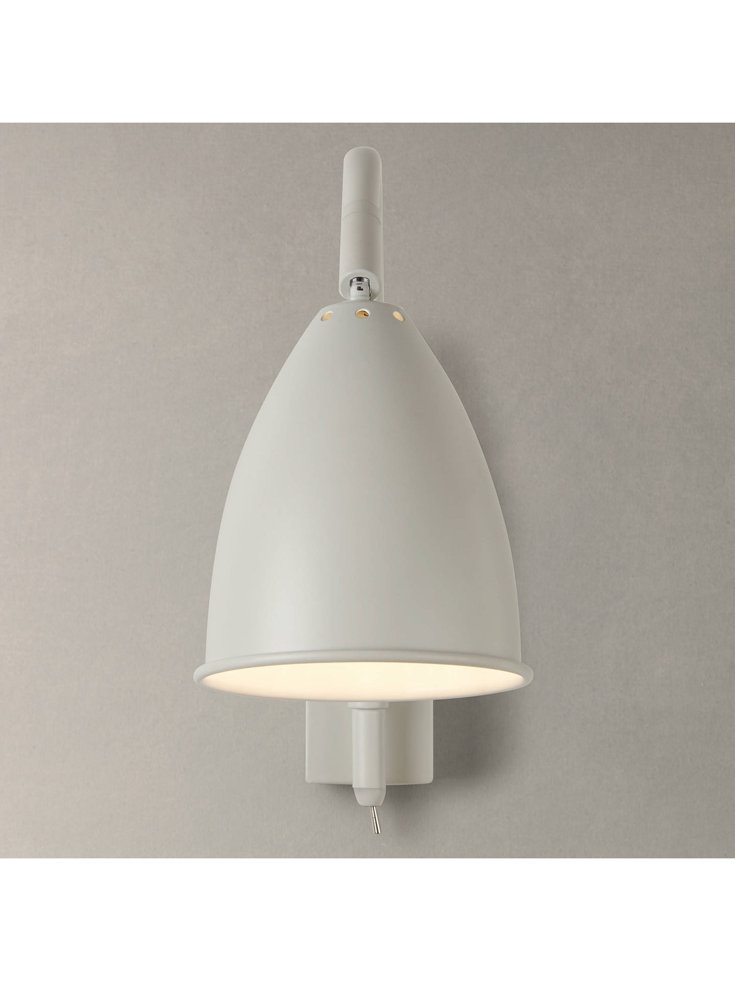 Buy John Lewis & Partners Chelsea Adjustable Wall Light, Ivory Online at johnlewis.com
