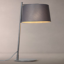 Buy John Lewis Grayson Woven Shade Table Lamp, Grey Online at johnlewis.com