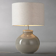 Buy John Lewis Ettie Glass Table Lamp, Grey Online at johnlewis.com