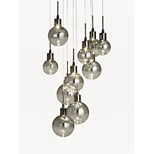 Ceiling lighting furniture lights john lewis buy john lewis dano led ombre glass ceiling light 10 light blackchrome aloadofball Images