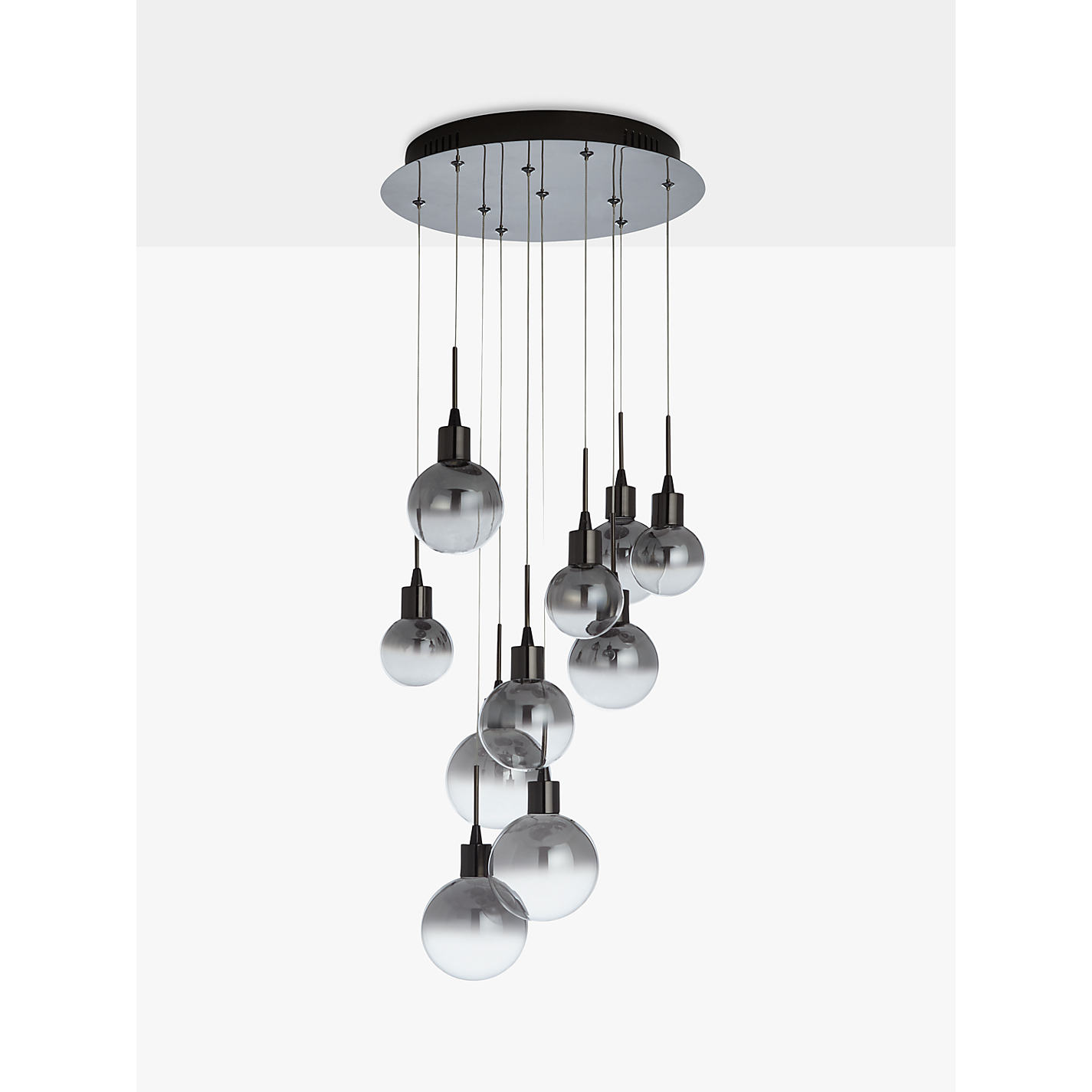 Buy john lewis dano led ombre glass ceiling light 10 light black buy john lewis dano led ombre glass ceiling light 10 light blackchrome mozeypictures Choice Image