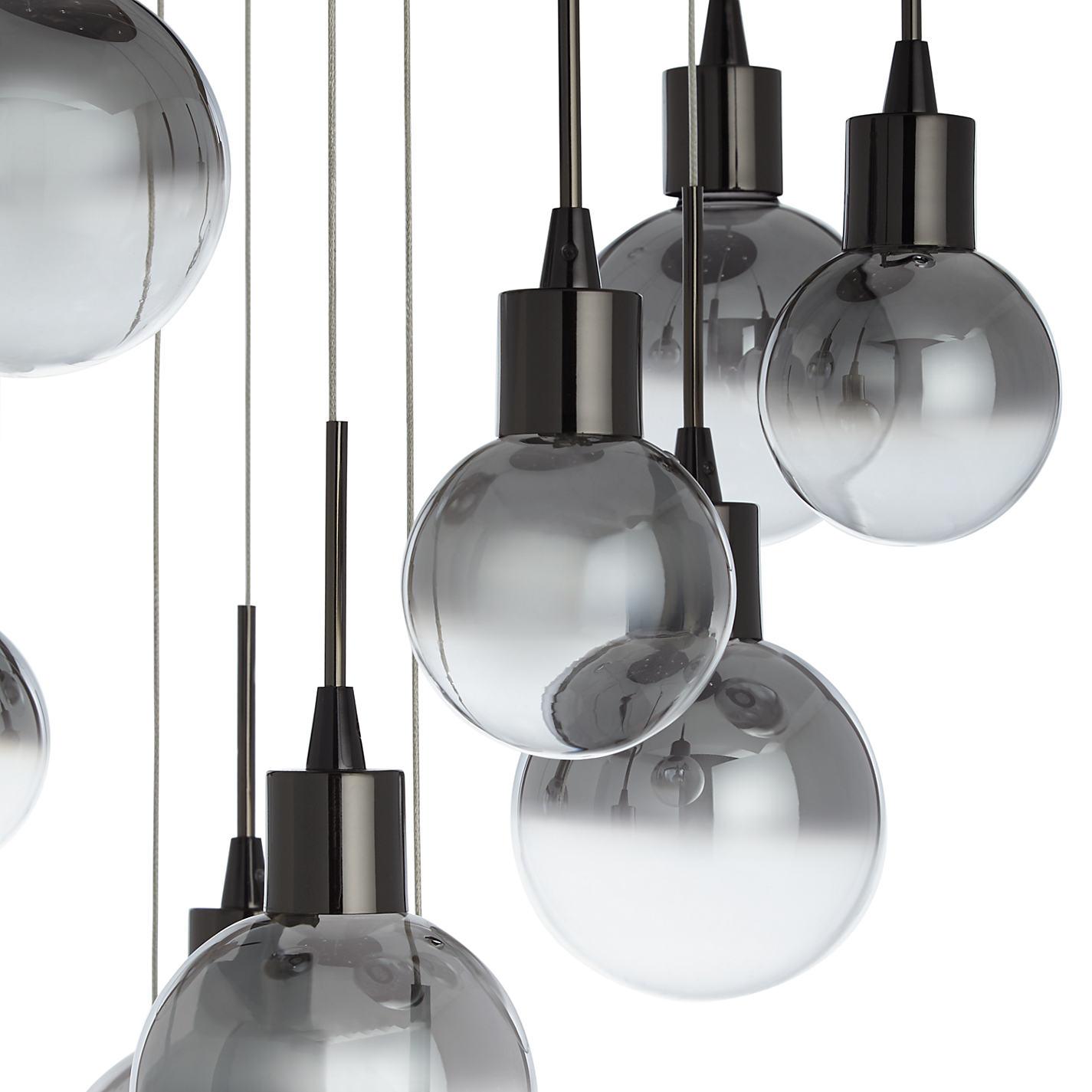Buy John Lewis Dano LED Ombre Glass Ceiling Light, 10 Light, Black ...