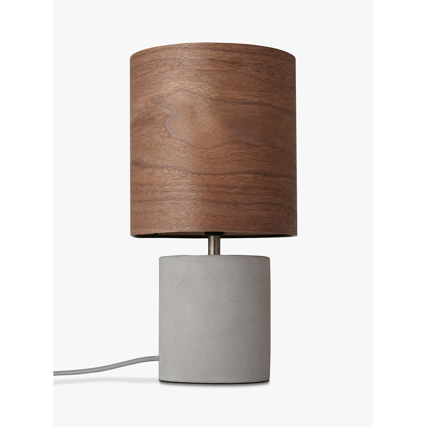 BuyDesign Project by John Lewis No.047 Table Lamp, Walnut Veneer Online at johnlewis.com