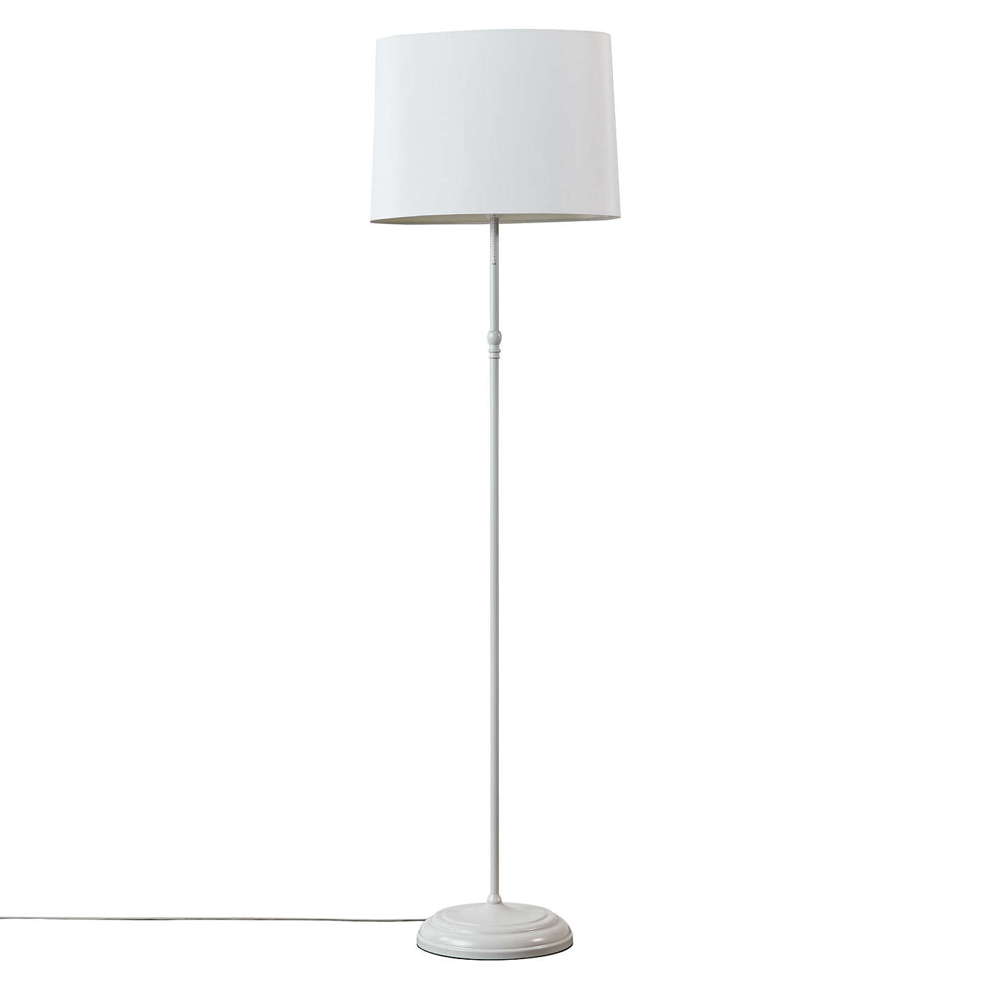Buyjohn Lewis Isabel Oval Shade Floor Lamp, Grey Online At