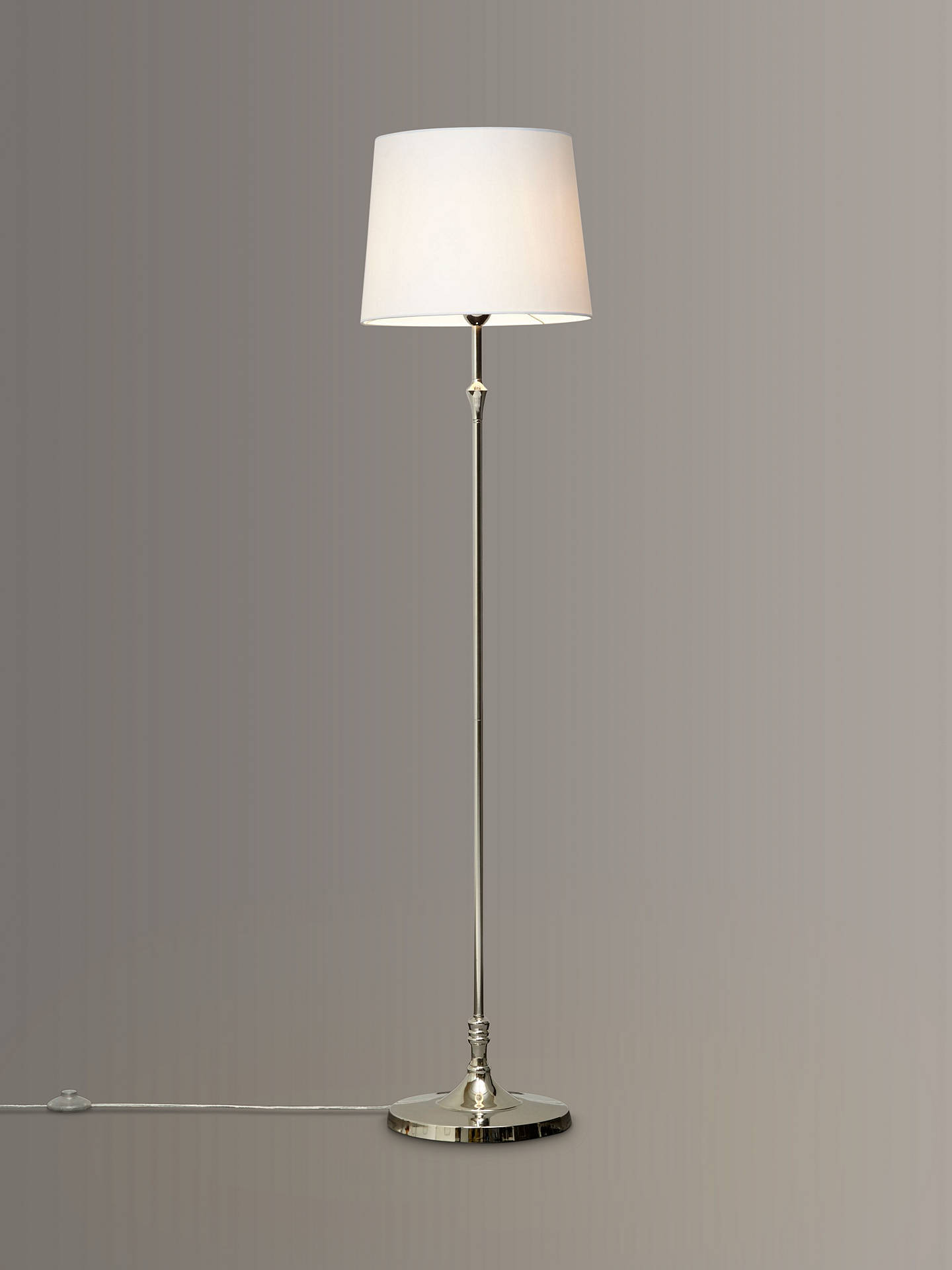 Buy John Lewis & Partners Cleo Floor Lamps, Nickel Online at johnlewis.com