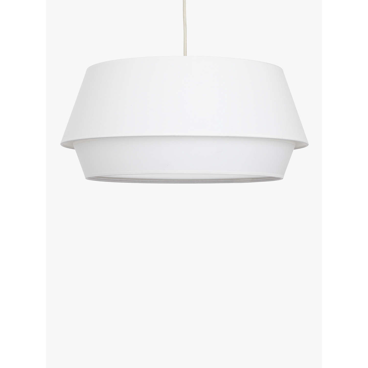 BuyHouse by John Lewis Lisbeth Easy-to-Fit Ceiling Shade, White, 50cm Online at johnlewis.com