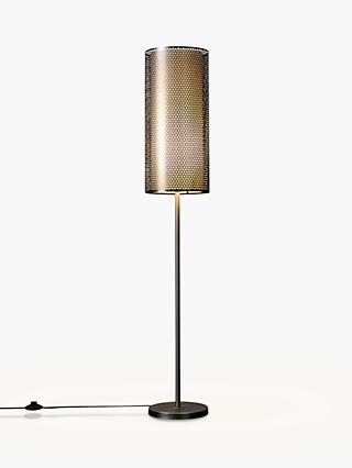 John Lewis & Partners Meena Light Effects Floor Lamp, Satin Nickel