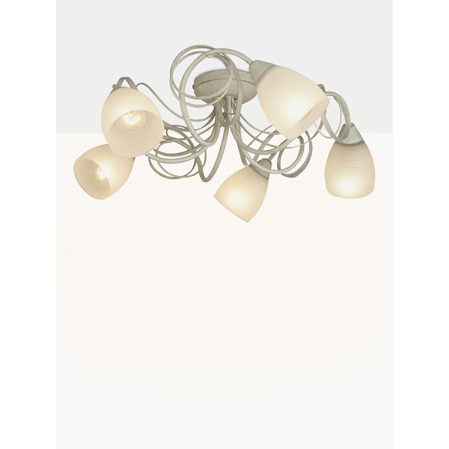 John lewis maisie semi flush ceiling light 5 light ivory at john lewis buyjohn lewis maisie semi flush ceiling light 5 light ivory online at johnlewis aloadofball Images