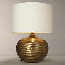 Buy John Lewis Ise Waves Metal Table Lamp, Antique Brass Online at johnlewis.com