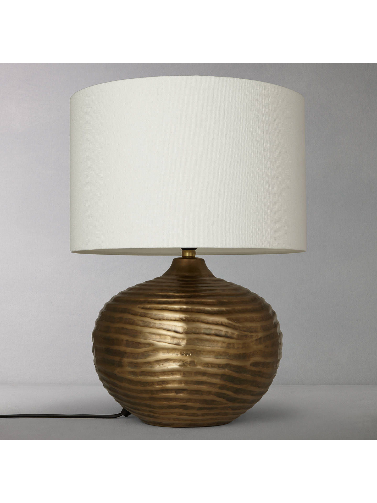 BuyJohn Lewis & Partners Ise Waves Metal Table Lamp, Antique Brass Online at johnlewis.com