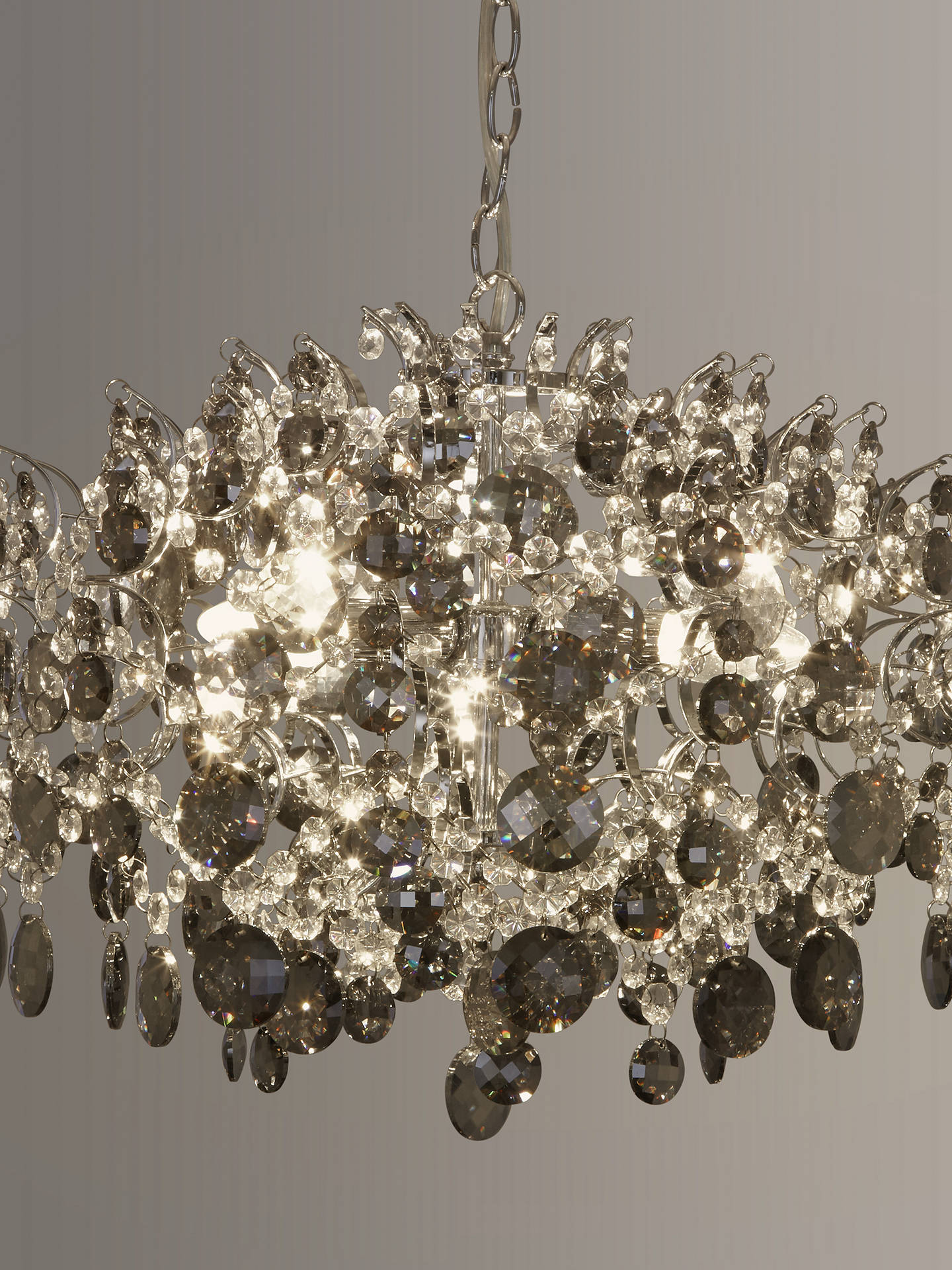 Buy John Lewis & Partners Paris Smoke & Clear Crystal Ceiling Light Online at johnlewis.com