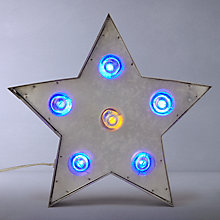 Buy John Lewis Rustic Galvanised Metal LED Star Lamp, Multi Online at johnlewis.com