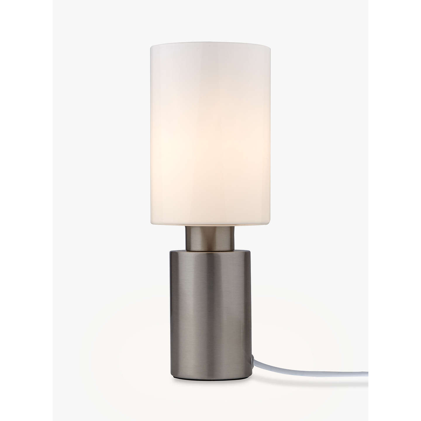 John lewis river touch table lamp satin nickel at john lewis buyjohn lewis river touch table lamp satin nickel online at johnlewis aloadofball Gallery