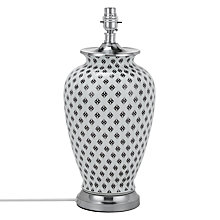 Buy John Lewis Virginia Ceramic Lamp Base, White/Black Online at johnlewis.com