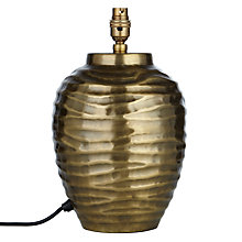 Buy John Lewis Tall Ise Lamp Base, Antique Brass Online at johnlewis.com