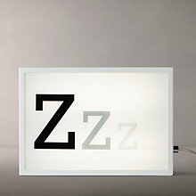 Buy John Lewis Zzz Small LED Light Box, White Online at johnlewis.com