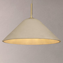 Buy Design Project by John Lewis No.060 Ceiling Pendant Light, Concrete/Brass Online at johnlewis.com