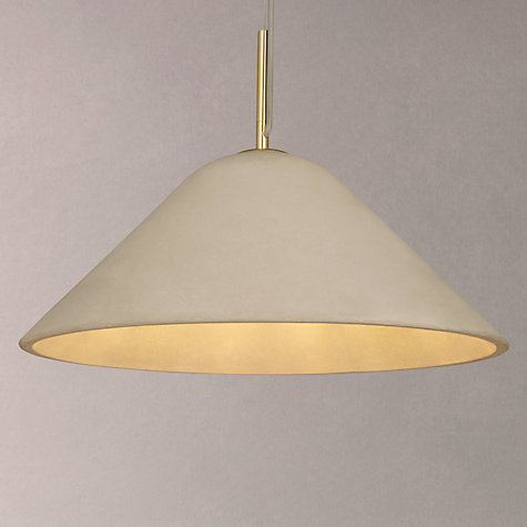 Buy design project by john lewis no 060 ceiling pendant light concrete brass