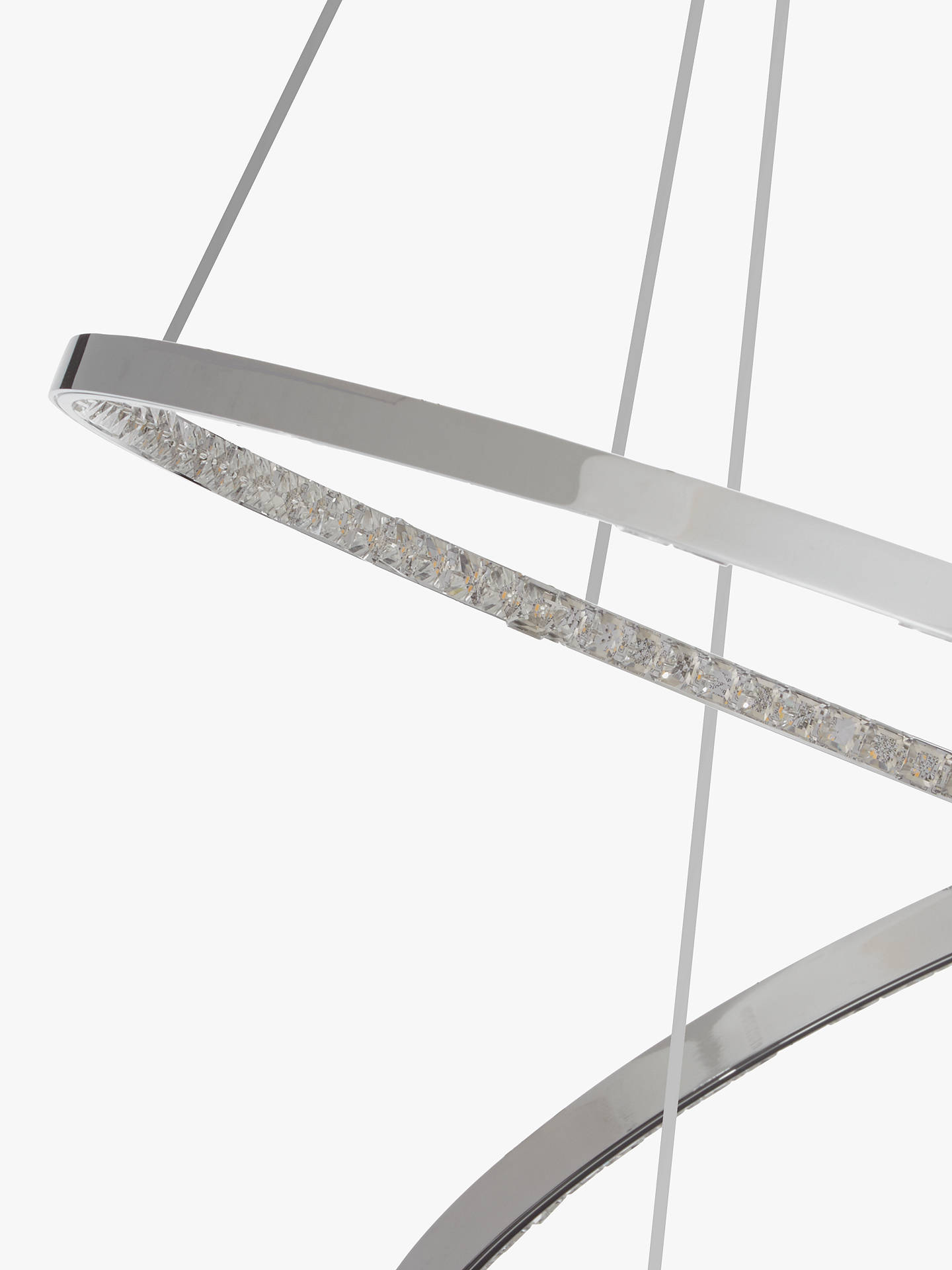 Buy John Lewis & Partners Zephyr LED Dual Ring Pendant Ceiling Light, Chrome Online at johnlewis.com