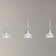 Buy John Lewis Zion LED Cones Bar Ceiling Light, 3 Light, Clear/Chrome Online at johnlewis.com