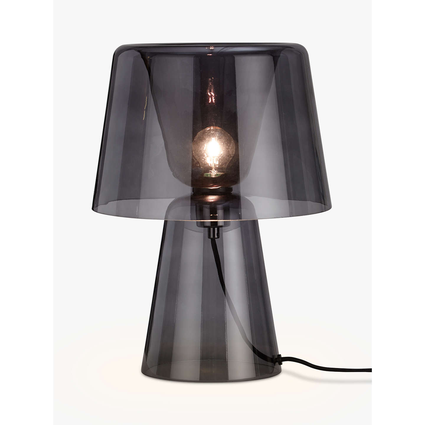design project by john lewis no 001 large glass table lamp at john lewis