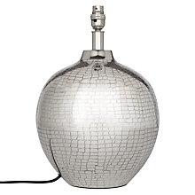 Buy John Lewis Savanna Animal Etch Lamp Base, Nickel Online at johnlewis.com