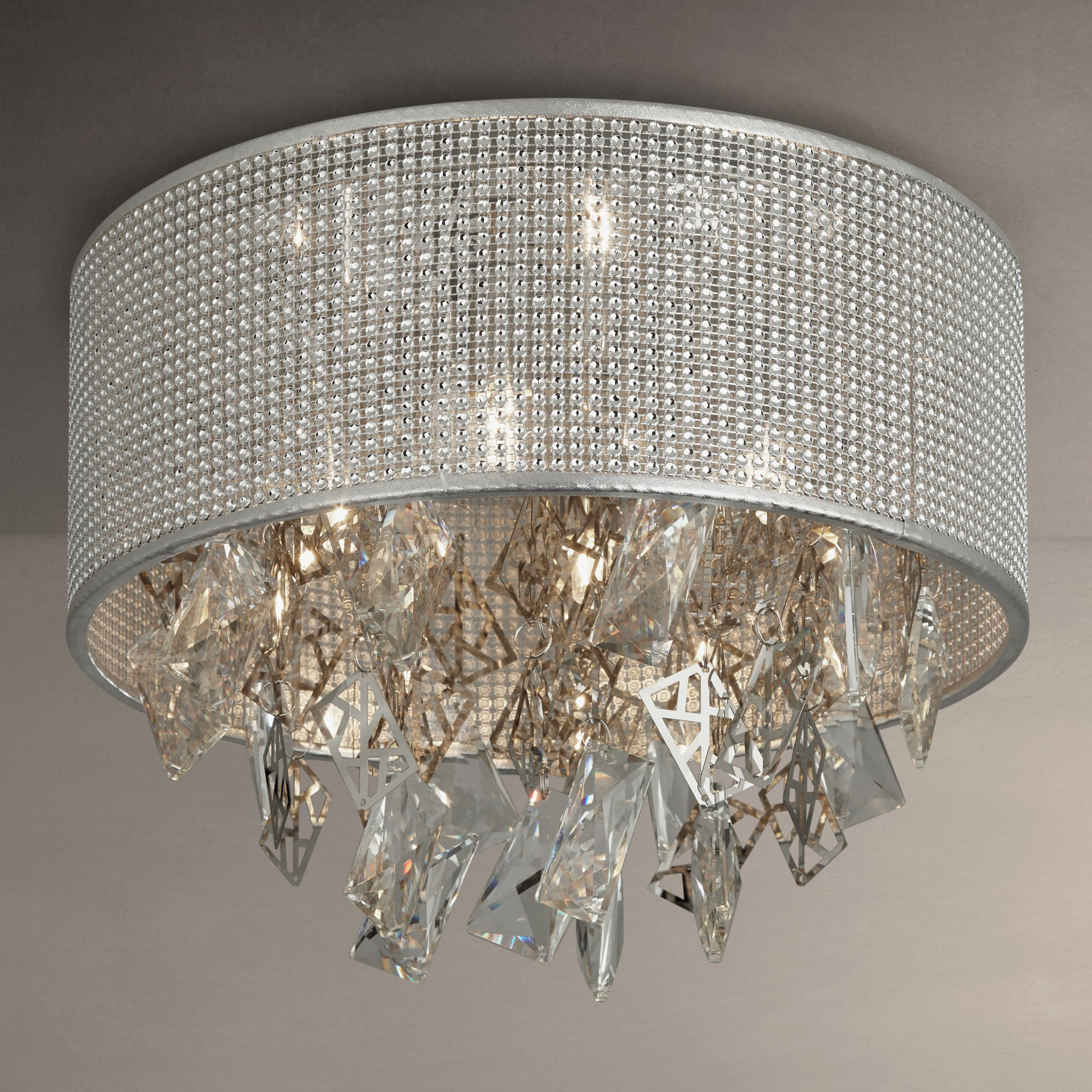 Buy John Lewis Tiffany Semi Flush Ceiling Light Silver John Lewis