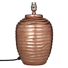 Buy John Lewis Tall Ise Lamp Base, Copper Online at johnlewis.com
