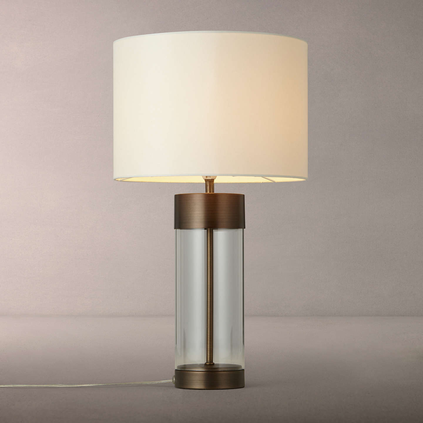 john lewis raif glass table lamp antique bronze at john lewis