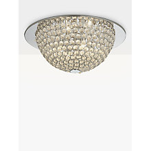 Buy John Lewis Moon Semi Flush Ceiling Light, Silver/Clear Online at johnlewis.com