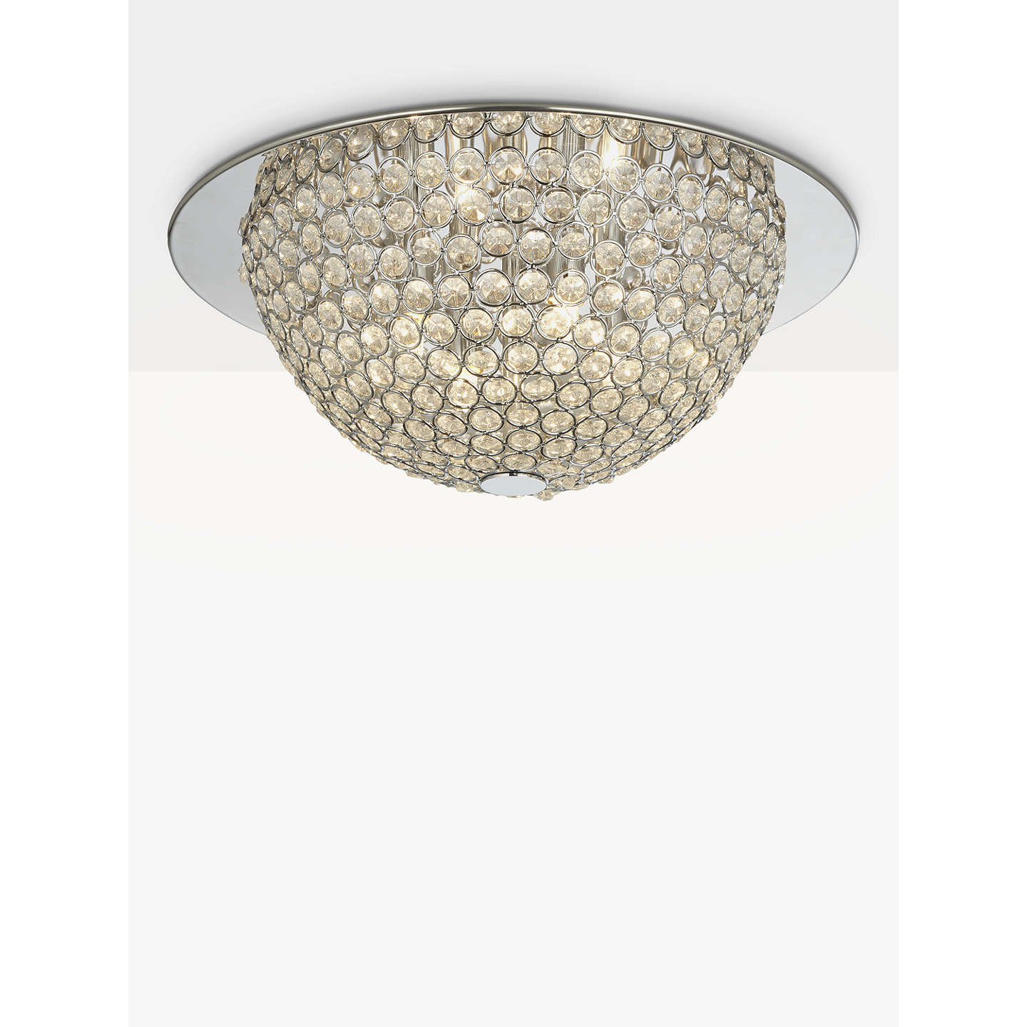 John lewis moon semi flush ceiling light silverclear at john lewis buyjohn lewis moon semi flush ceiling light silverclear online at johnlewis aloadofball