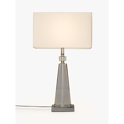 John Lewis Trisha Triangle Glass Table Lamp, Clear