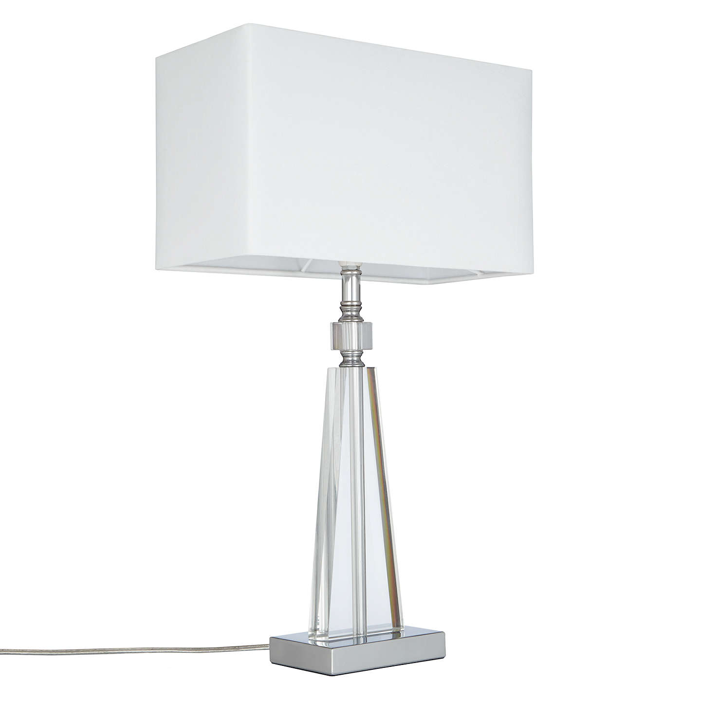 John lewis trisha triangle glass table lamp clear at john lewis buyjohn lewis trisha triangle glass table lamp clear online at johnlewis aloadofball Gallery