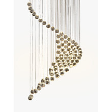 Buy John Lewis Wave LED Ceiling Light, Clear/Chrome Online at johnlewis.com